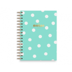 CUADERNO CHARUCA A5 TOPOS MINT